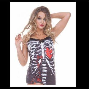 Jawbreaker Bedtime Stories Skeleton Heart Cami XL